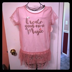 Girls Create Your Own Magic Blouse XL NWT